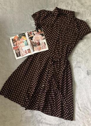 Вискозное платье в горох f&f
