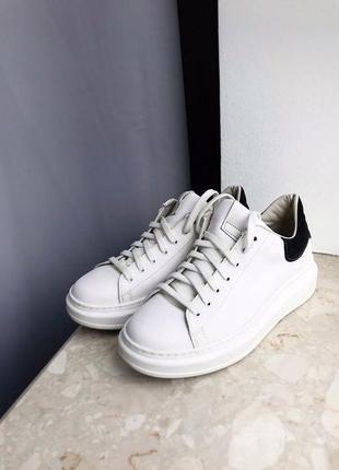 Белые кеды , кроссовки как mcqueen ! zara mango