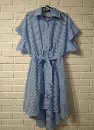 Шикарное шифоновое платье