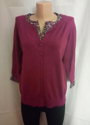 Легкая кофточка, имитация кофточка+блузка