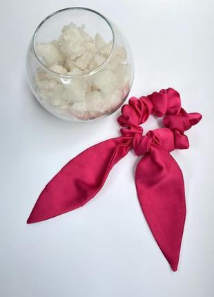 Резинка для волос из шелка, объемная резинка твилли, шелковая резинка с ленточками
