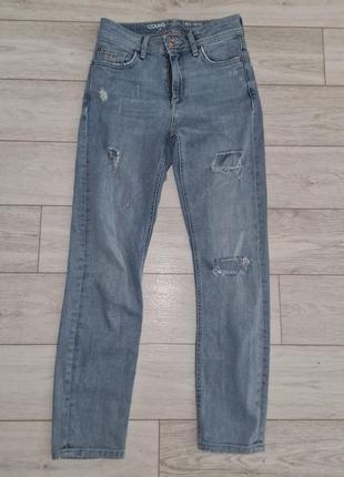 Брендовые рваные джинсы