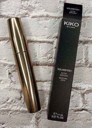 Тушь для ресниц kiko milano volumeyes plus active mascar