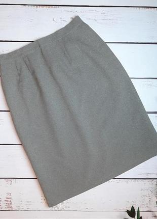 1+1=3 базовая идеальная строгая серая юбка карандаш по колено, размер 48 - 50
