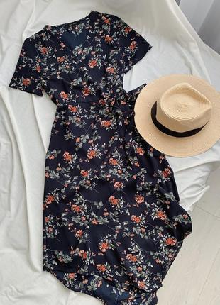 Длинное миди платье в цветочный принт new look