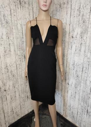 Приталенное платье и тонкого фактурного трикотажа
