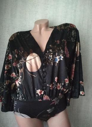 Бархатный боди кофта кимоно