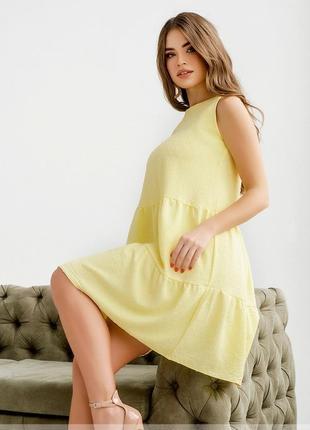 Суперское легкое нежное платье-сарафан на лето размеры 42,44,46,48,50,52 (4143)