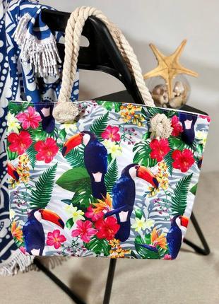 ❤стильные пляжные котоновые сумки