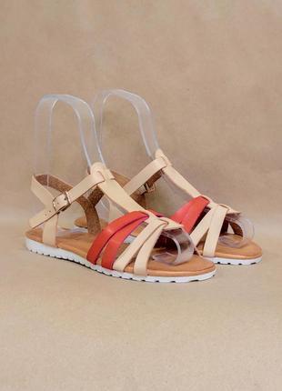 Бежевые босоножки шлепки сандалии бежеві босоніжки жіночі женские