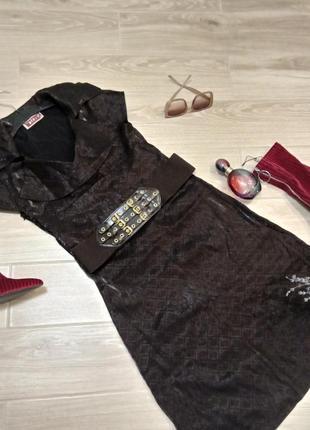 Винтажное платье в цвете кофе