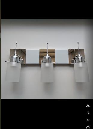 Бра светильник на стену c поворотными плафонами --- возможен монтаж на потолок