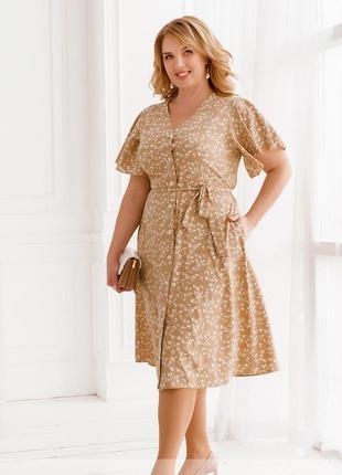 Платье-сарафан на лето размеры 50-52, 54-56, 58-60, 62-64, 66-68 (2246)