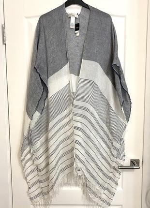 Новый льняной палантин шарф пончо шаль,, накидка для пляжа  next 1+1=3