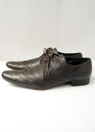 """Классические стильные кожаные туфли """"hudson"""". размер eur 43."""