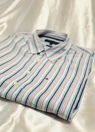Рубашка в полоску, полосатая рубашка tommy hilfiger 1+1=3