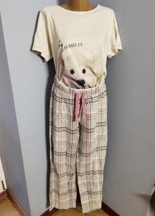 Пижама натуральная хлопковая размера 12-14/ l.