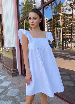 Платье сарафан из льна 3 цвета
