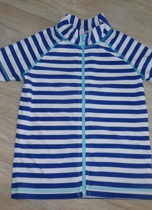 Солнцезащитная пляжная футболка для плавания на молнии 18-24 мес 1-2 года 86-92см