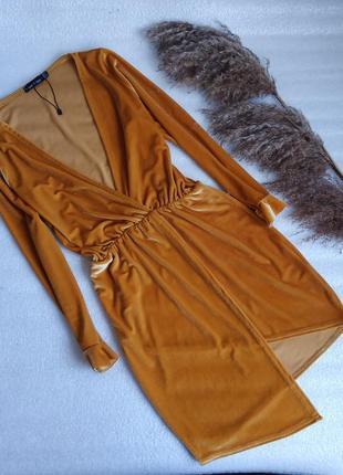 ✨неймовірна велюрова сукня ,трендового кольору ✨