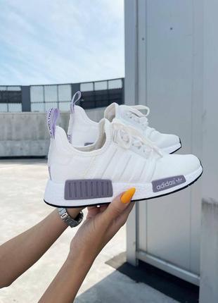 Женские кроссовки  adidas nmd r1 white