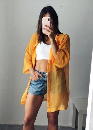 🔥 последний шанс! распродажа 🔥 прозрачная оранжевая оверсайз тениска винтаж