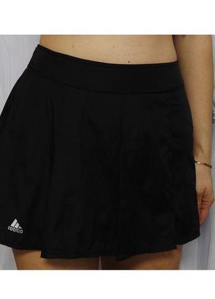 Юбка черная летняя adidas(2078)