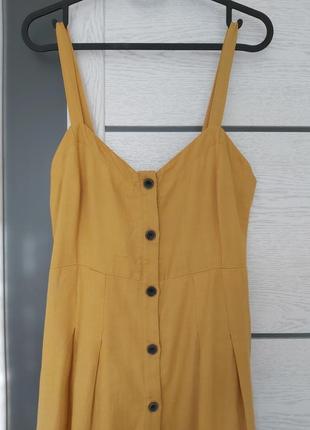 Натуральная ткань! миди платье/сарафан pull&bear