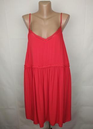 Платье новое красное стильное большого размера new look uk 18/46/xxl