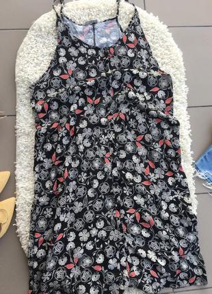 Платье сарафан цветочный халат плаття миди2 фото