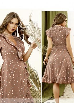 Лёгкое летнее платье на запах в романтическом стиле💕4 фото
