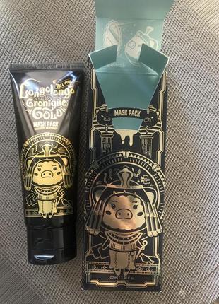 Маска-пленка с золотом elizavecca hell-pore longolongo gronique gold mask pack