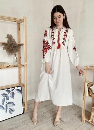Сукня бохо з вишивкою вишиванка в стилі віта кін платье вышиванка