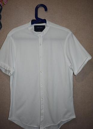 Шведка рубашка с коротким рукавом zara