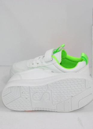 Белые модные кроссовки для девочек6 фото