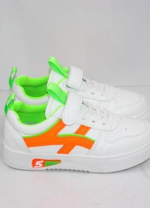 Белые модные кроссовки для девочек4 фото