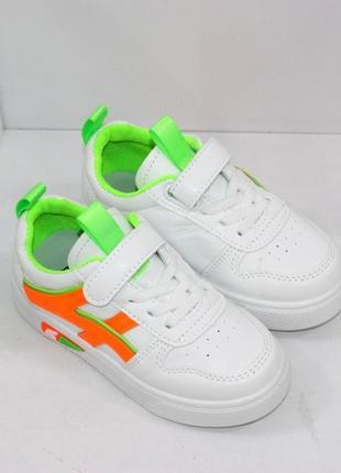 Белые модные кроссовки для девочек2 фото