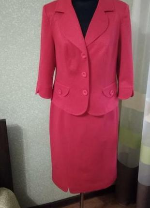 Яркий костюм ,юбочный дизайнерский костюм  от petra coroki.