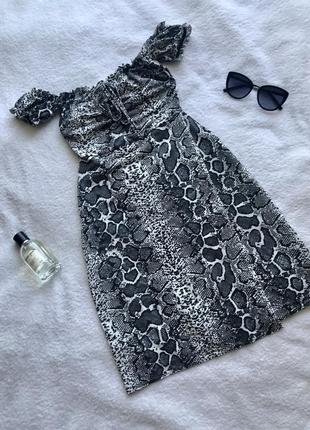 Плаття рептилія/ змеиный принт / платье рептилия / зміїний принт / платье размер xs