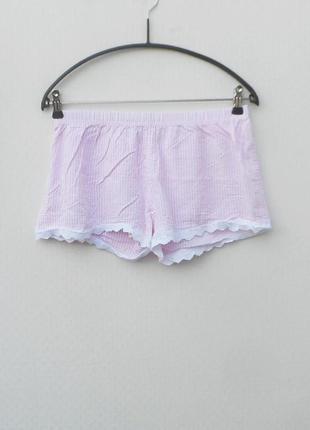Легкие пижамные домашние трусики шорты из клопка