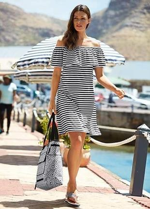 Модные вещи для пышных элегантное платье в морском дизайне от tchibo(германия) 2 размера