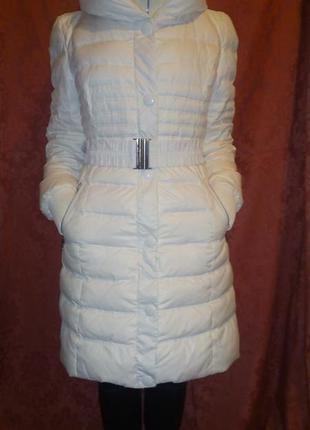 Стеганое зимнее женское пальто snowimage чисто белого цвета.
