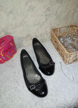 Туфли натуральная кожа 25.5 см туфлі натуральна шкіра балетки кожа9 фото