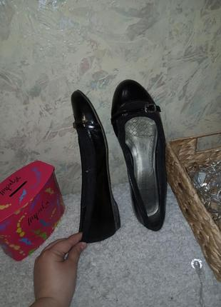 Туфли натуральная кожа 25.5 см туфлі натуральна шкіра балетки кожа7 фото