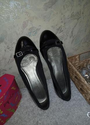Туфли натуральная кожа 25.5 см туфлі натуральна шкіра балетки кожа8 фото