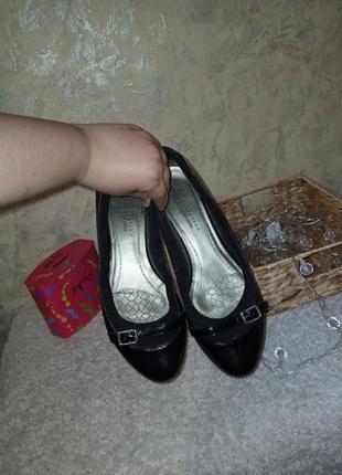 Туфли натуральная кожа 25.5 см туфлі натуральна шкіра балетки кожа