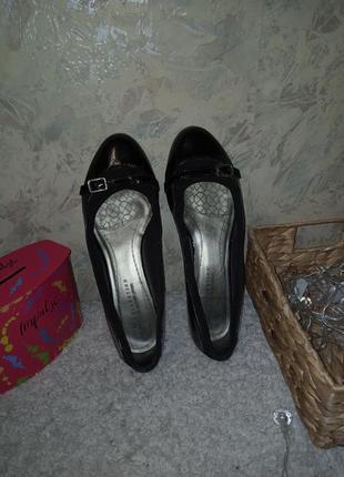 Туфли натуральная кожа 25.5 см туфлі натуральна шкіра балетки кожа3 фото
