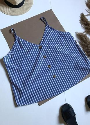 Блуза майка в полоску shein 3xl