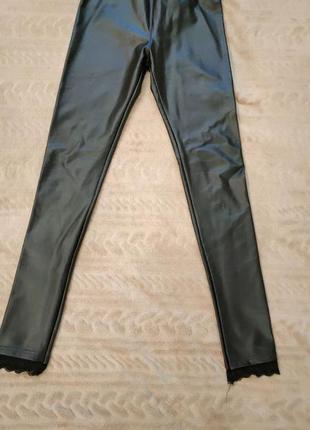 Кожаные лосины штаны