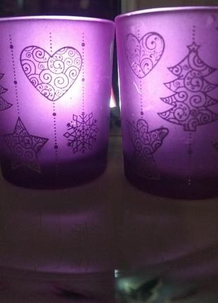 Подсвечники стекло очень красивый цвет